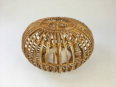 VINTAGE LOBSTER POT FOOT STOOL / OTTOMAN by FRANCO ALBINI 60S 70S MID CENTURY