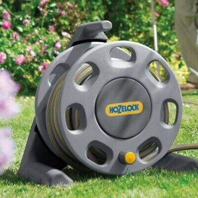 Hozelock Compact Hose Reel with Fittings - 25 Meter - 13mm Hose