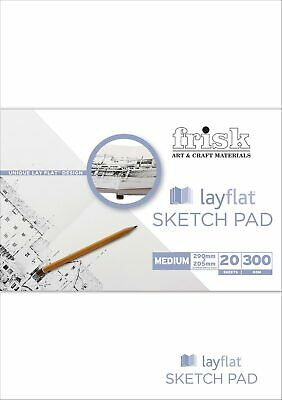 Frisk Lay-Flat Sketch Pad Portrait A4 (290 x 205mm) 20 pages
