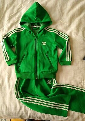 BOYS' ADIDAS ORIGINALS FULL TRACKSUIT age 4 kids 3-stripe girls hoodie & Joggers