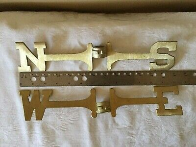 Good Directions Weathervane 13 Inch Directionals Set Solid Brass N S E W