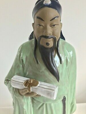 A Chinese Porcelain statue of Fu Xing - Three Stars God of prosperity- 46cm tall