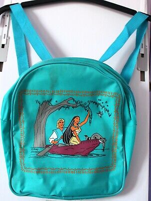 Small Child Pocahontas Green Backpack