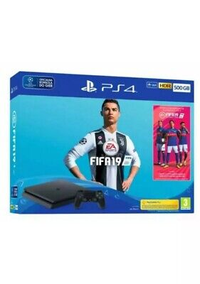 PS4 Slim Jet Black 500 GB With Fifa 19 Excellent Condition Hardly Ever Used
