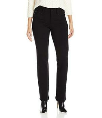 womens black NYDJ NOT YOUR DAUGHTERS JEANS samantha slim ponte pants SMALL 6