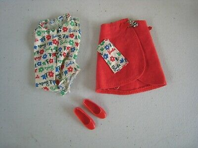 1960's Mattel Skipper Day at the Fair #1911 Outfit NM Near Complete #BM149