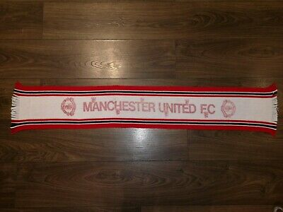 Vintage Manchester United Football Scarf, 1970's, 1980's. RARE. Great Condition