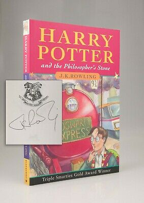 SIGNED J K Rowling Harry Potter and the Philosopher's Stone