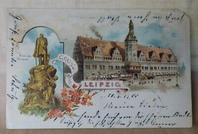 Neues Theater in Leipzig GERMANY Early 1900/'s Undivided Back Antique POSTCARD Post Card PostKarte
