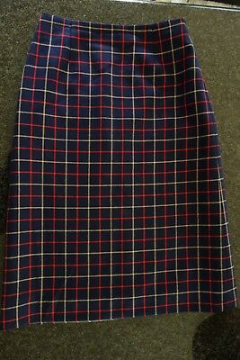 Vintage Jedforest 100% Wool Tartan A Line Skirt,Lined,Exc Cond,Made In Scotland