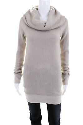 Ingrid & Isabel Womens Long Sleeve Oatmeal Cowl Maternity Sweater Small 10737032