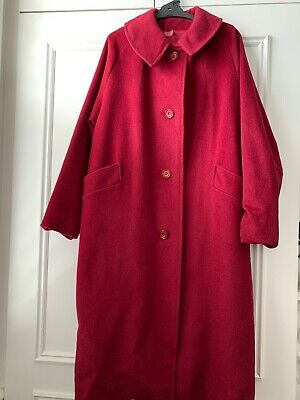 Vintage Magificent Red Wool Coat 14-16