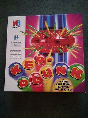 Complete Vintage MB Kerplunk Childrens  Marble Game : 1996: Family Fun, Boxed