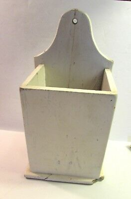 Primitive Wood Candle Box Storage Vessel Signs Of Age & Wear