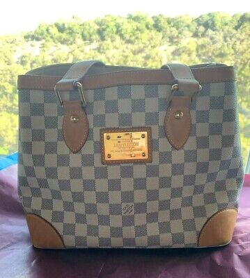 Auth. LOUIS VUITTON Hampstead PM Damier Azur (N51207) Pre-Loved