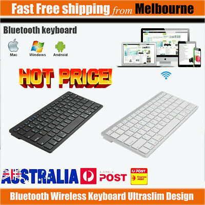 Bluetooth Keyboard Wireless Ultra Slim For Laptop/iPad/Android Cellphone/Mac AU