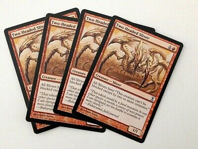1 Two-Headed Sliver ~ Red Time Spiral Mtg Magic Common 1x x1