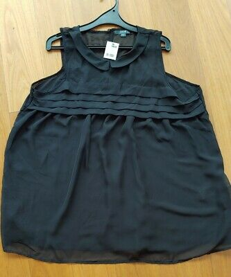 Black Patch Maternity Top Size XL New