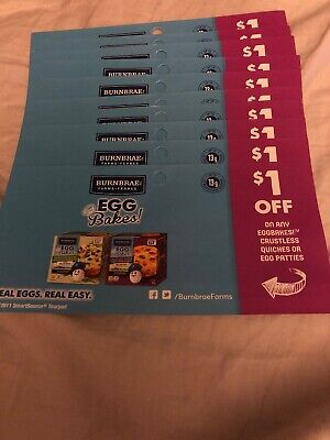 10 Coupons x Save $1 On Any Eggbakes! Crustless Quiches Or Egg Patties