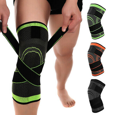 2*Knee Sleeve Brace Compression Patella Support Stabilizer Sports Gym Joint Pain