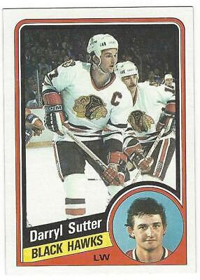 DARRYL SUTTER 1984-85 Topps Hockey #36 NM-MT NHL Chicago Blackhawks L.A. Kings