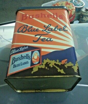 Large Bushell's Blue Label Tea Tin made by Willow Australia