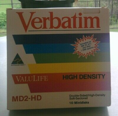 "10x Verbatim ValuLife High Density Diskettes 5 1/4"" (133mm) MD2-HD 1.2MB NEW"