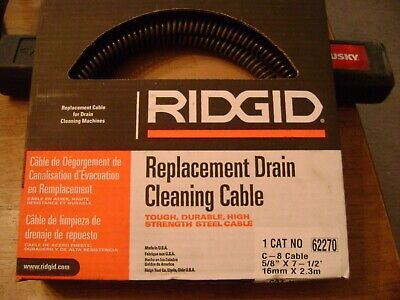 Ridgid Replacement Drain Cleaning Cable  Cat No 62270