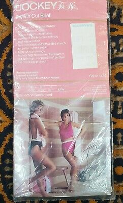 Vintage NWT 1984 Jockey For Her French Cut Brief Black Style 1507 Size 6 USA
