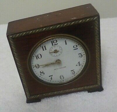 VINTAGE Seth Thomas USA Severn Wind Up Baby Ben Mahogany Alarm Clock