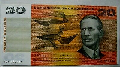 "1972 Phillips & Wheeler ""Commonwealth of Australia"" Twenty Dollars Banknote"