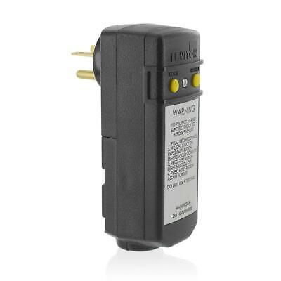 Leviton 16693 Right Angle Ground Fault Circuit Interrupter Plug 15A 120V GFCI