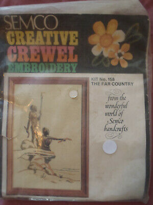 Vintage Kit: SEMCO: Crewel Embroidery: The Far Country: Kit No. 158