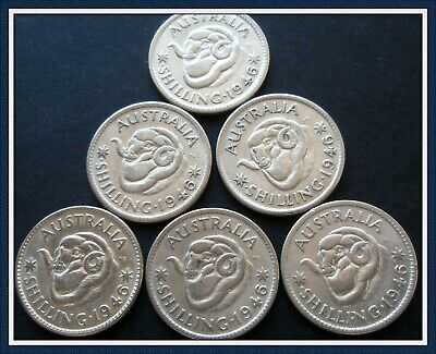 1946 6 Shillings struck Perth Mint with Double dot,Mintage 1.3 million.