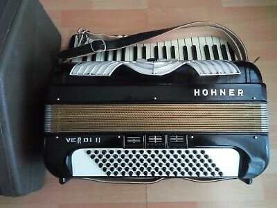 Akkordeon accordion HOHNER VERDI II 96 Bass 5/3 Register Koffer