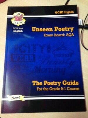 NEW Grade 9-1 GCSE English AQA Unseen Poetry Guide by CGP Books