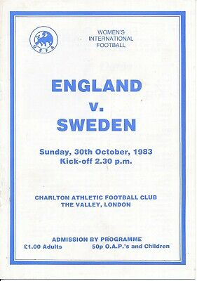 WOMEN - England v Sweden (Ladies International @ Charlton Athletic) 1983