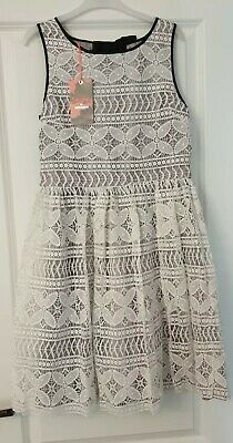Monsoon Girls Ivory with Grey Party Dress By Storm Age 13 Years 158CM NWTs