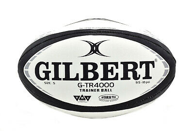 Gilbert Rugby G-TR4000 - Rugby Training Ball - Black - Size 3, 4 or 5 -Brand New