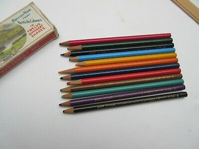 Vintage Cumberland Pencil Co Lakeland colour pencils x 12 boxed