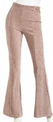 FREE PEOPLE Women's Pull-On Knit Corduroy Flare Pants