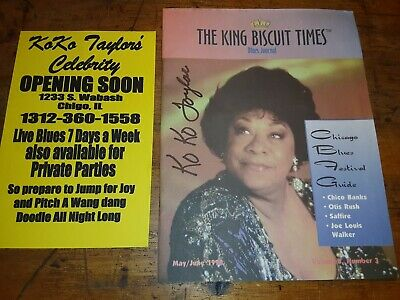 """Koko Taylor Signed 1998 """"THE KING BISCUIT TIMES"""" JOURNAL BLUES FEST / 2 Posters"""
