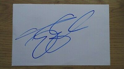 Terry Gilliam signed white card, former member of the Monty Python (autograph)