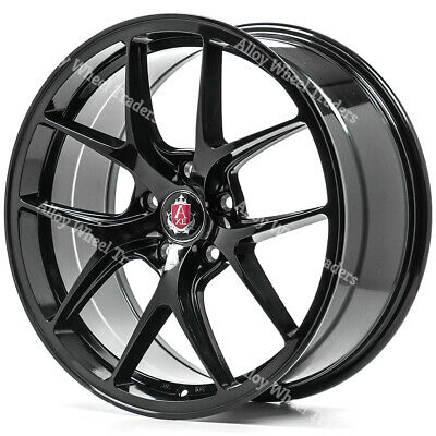 """Alloy Wheels 19"""" EX34 For 5x108 Ford Kuga Mondeo S Max Transit Connect Black"""