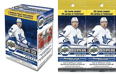 2019-20 Upper Deck Series 2 Hockey Trading Cards COMBO= 1-BLASTER + 2-FAT PACKS