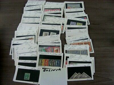 BOLIVIA, Excellent assortment of Stamps in stock cards