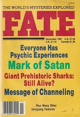 Fate Magazine November 1987 - Giant Sharks, Psychic Experiences, Channeling