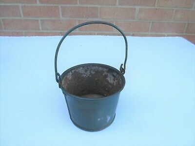 Vintage small cast iron glue melting pot tool, base only