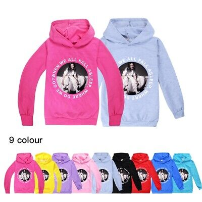 New Billie Eilish Kids Children Hoodies Sweatshirt Jumper Hooded Tee Tops UK