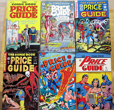 LOT OF SIX (6) USED OVERSTREET COMIC BOOK PRICE GUIDES  #'s 8, 9, 10, 11, 12 &13